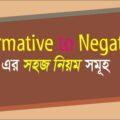 Affirmative to Negative